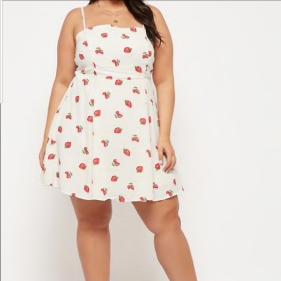 New Forever 21 Plus Size Strawberry Dress NWT